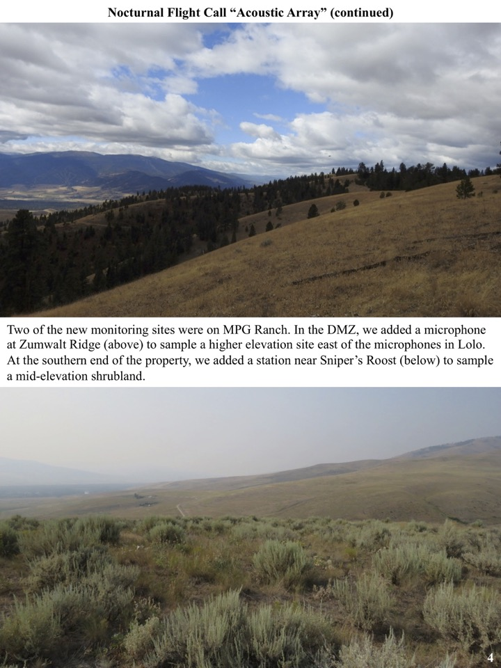 Two of the new monitoring sites were on MPG Ranch.
