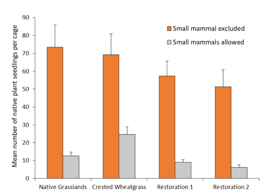 small mammals excluded vs included