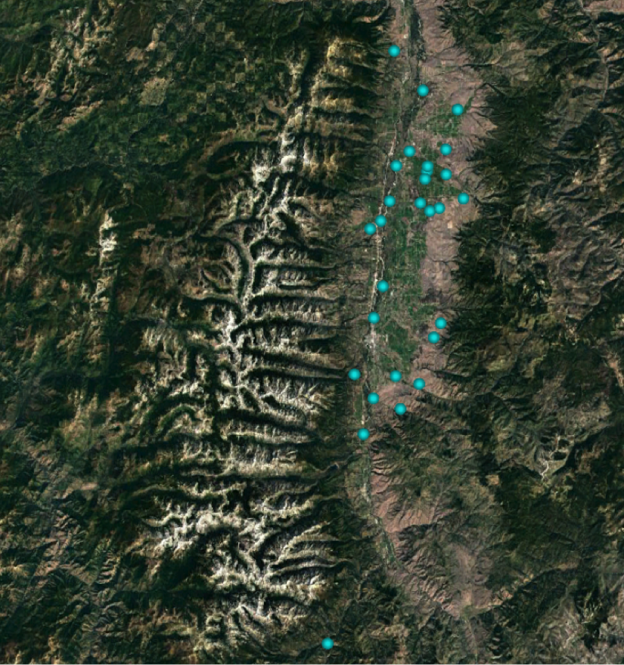 We recorded ungulates visiting all 28 sites associated with the Bitterroot Valley Eagle Project