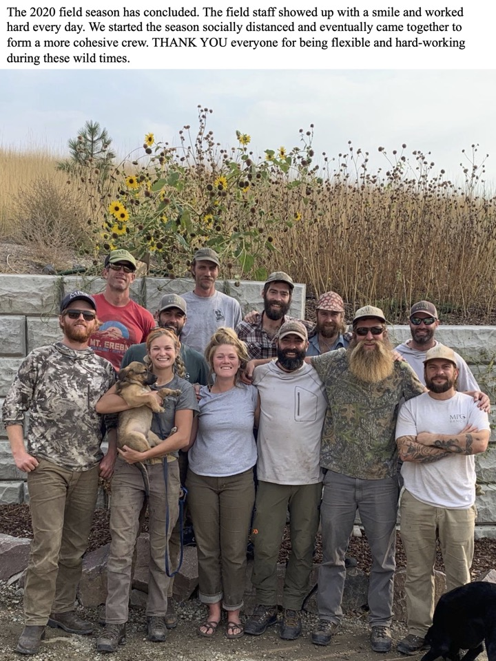 The 2020 field season has concluded.