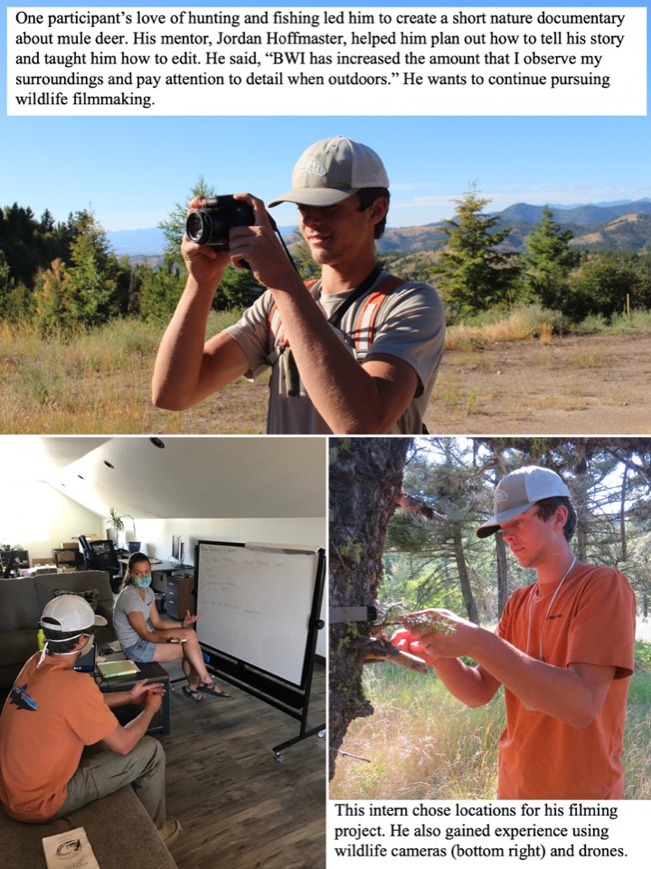 One participant's love of hunting and fishing led him to create a short nature documentary about mule deer.