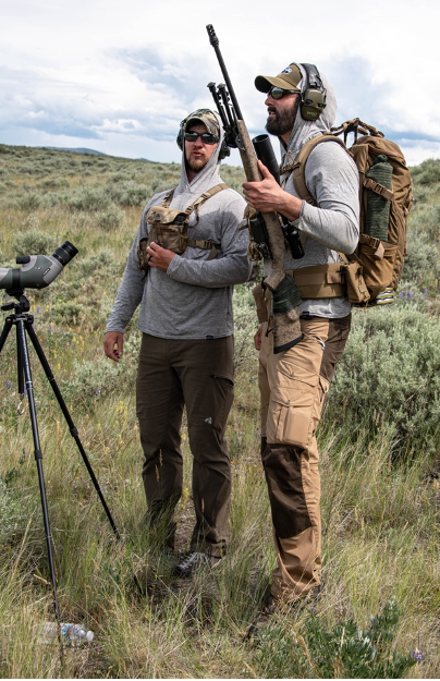 Photo 4 – Shooting instructor and student discuss the best approach to a hunting scenario during a shooting clinic held on MPG Ranch in June 2020.