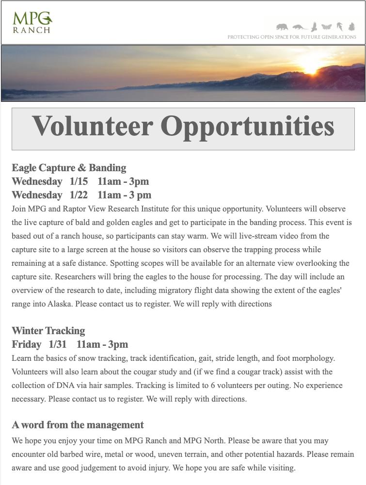 jan 2020 volunteer