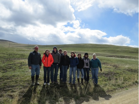 On Saturday, a group from Big Sky High School visited MPG Ranch to prepare for the state Envirothon competition. In an Envirothon students compete in the areas of aquatics, range, forestry, and soils. Saturday's visit focused on the areas of aquatics and range.