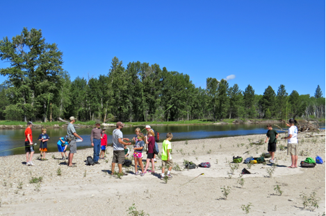 On Thursday, Missoula Parks and Recreation brought a fly fishing summer camp for a day of fishing on the Bitterroot River in MPG's Northern Floodplain.