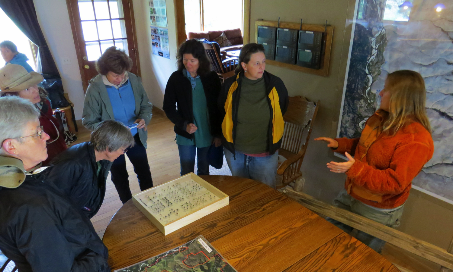 Last Saturday a group from the Clark Fork chapter of the Montana Native Plant Society came to learn about MPG's native bee monitoring efforts.  Folks asked great questions about the ranch's history and MPG's many ongoing research projects.