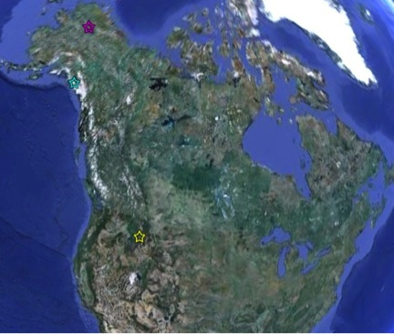 Breeding territories of the male and female golden eagle captured on the MPG Ranch in December of 2011