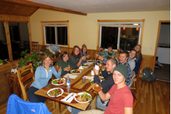 The class then enjoyed a well earned dinner which they prepared themselves. During the meal, we discussed the ranch's current efforts to transition the former rangeland over to native species communities, and the many considerations and steps that go into such a large project.