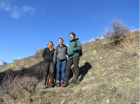 Three staff from the Watershed Education Network (WEN) visited MPG Ranch on February 8th.