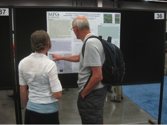 Alexii Cornell discusses research findings at the ESA meetings.