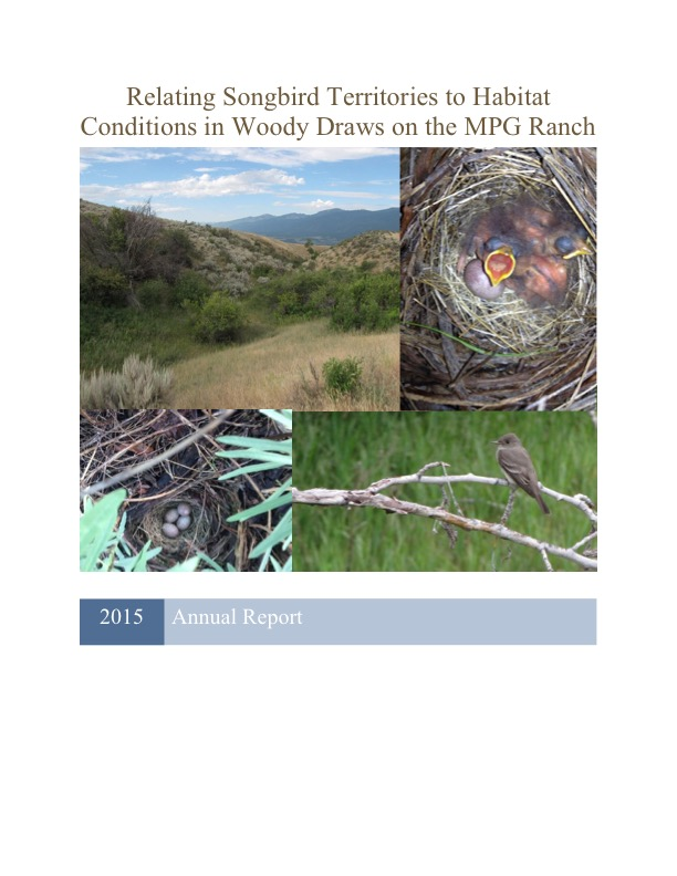 Relating Songbird Territories to Habitat Conditions in Woody Draws on the MPG Ranch