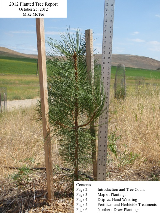 2012 Planted Tree Report