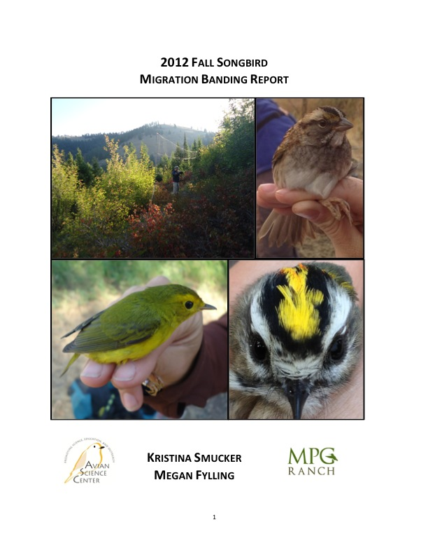 2012 Fall Songbird Migration Banding Report