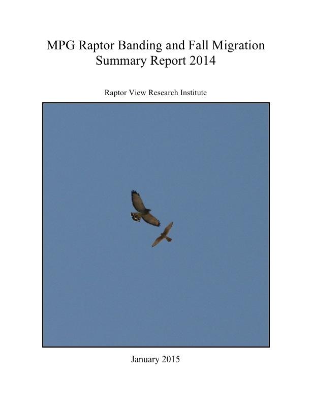 MPG Raptor Banding and Fall Migration Summary Report 2014